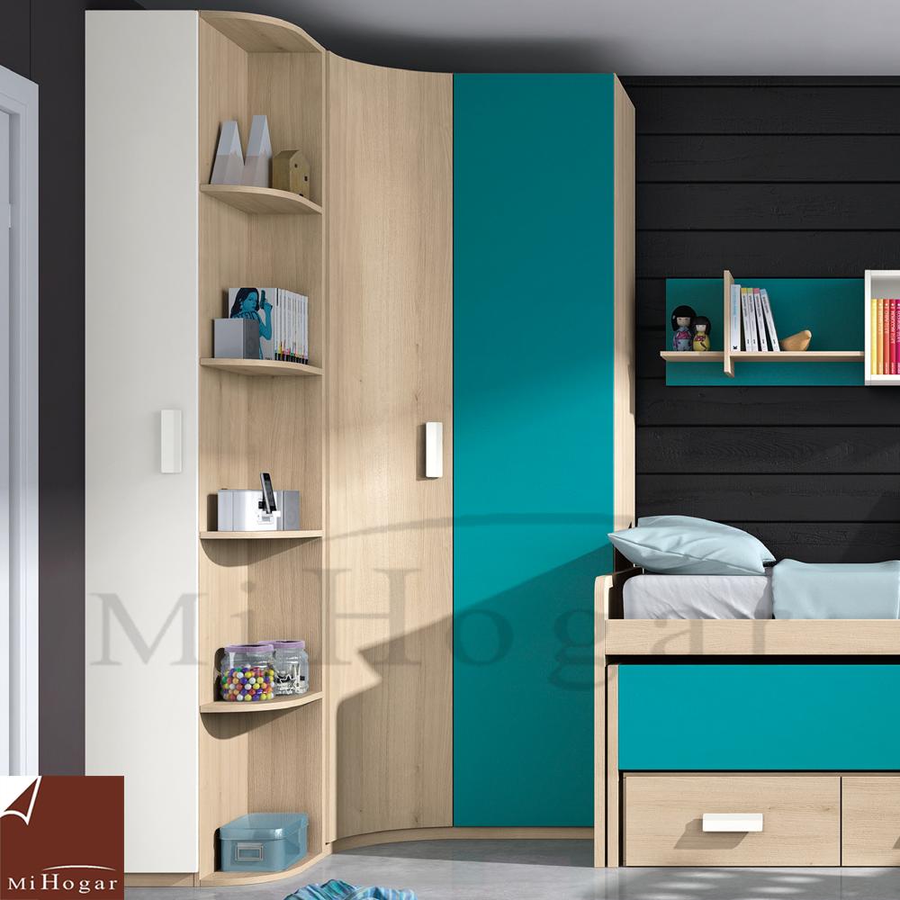armario rincón puerta cuerva dormitorios juvenil low