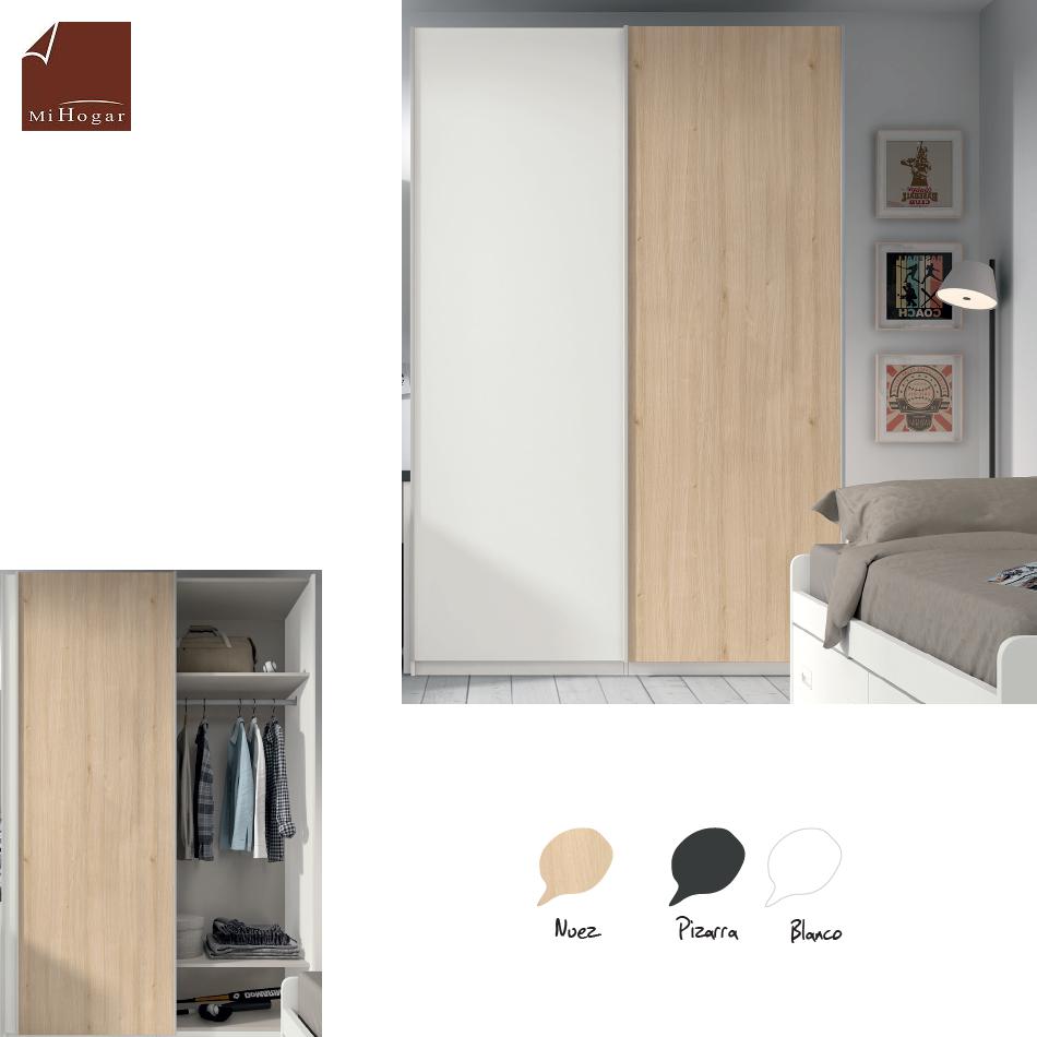 Armario puertas correderas low muebles mi hogar for Armarios para dormitorios juveniles