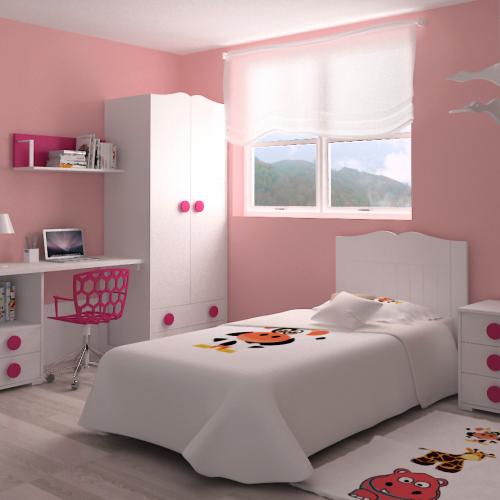 cabecero cama armario mesa mesita estante dormitorio infantil mvs