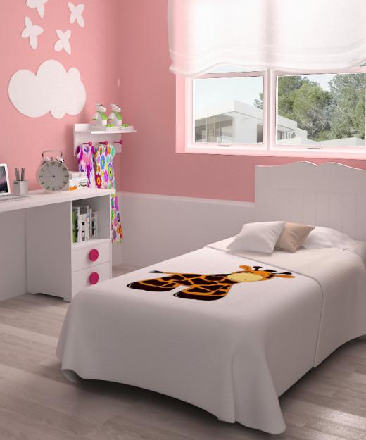 cabecero cama mesa estudio mesita dormitorio infantil mvs