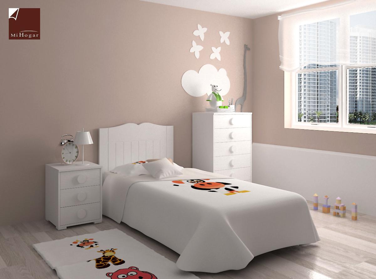 Muebles De Dormitorio Infantil. Stunning Cabecero Cama Armario Mesa ...