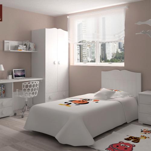 cama cabecero armario mesa mesita estante dormitorio infantil mvs