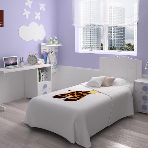 cama cabecero mesa estudio mesita dormitorio infantil mvs