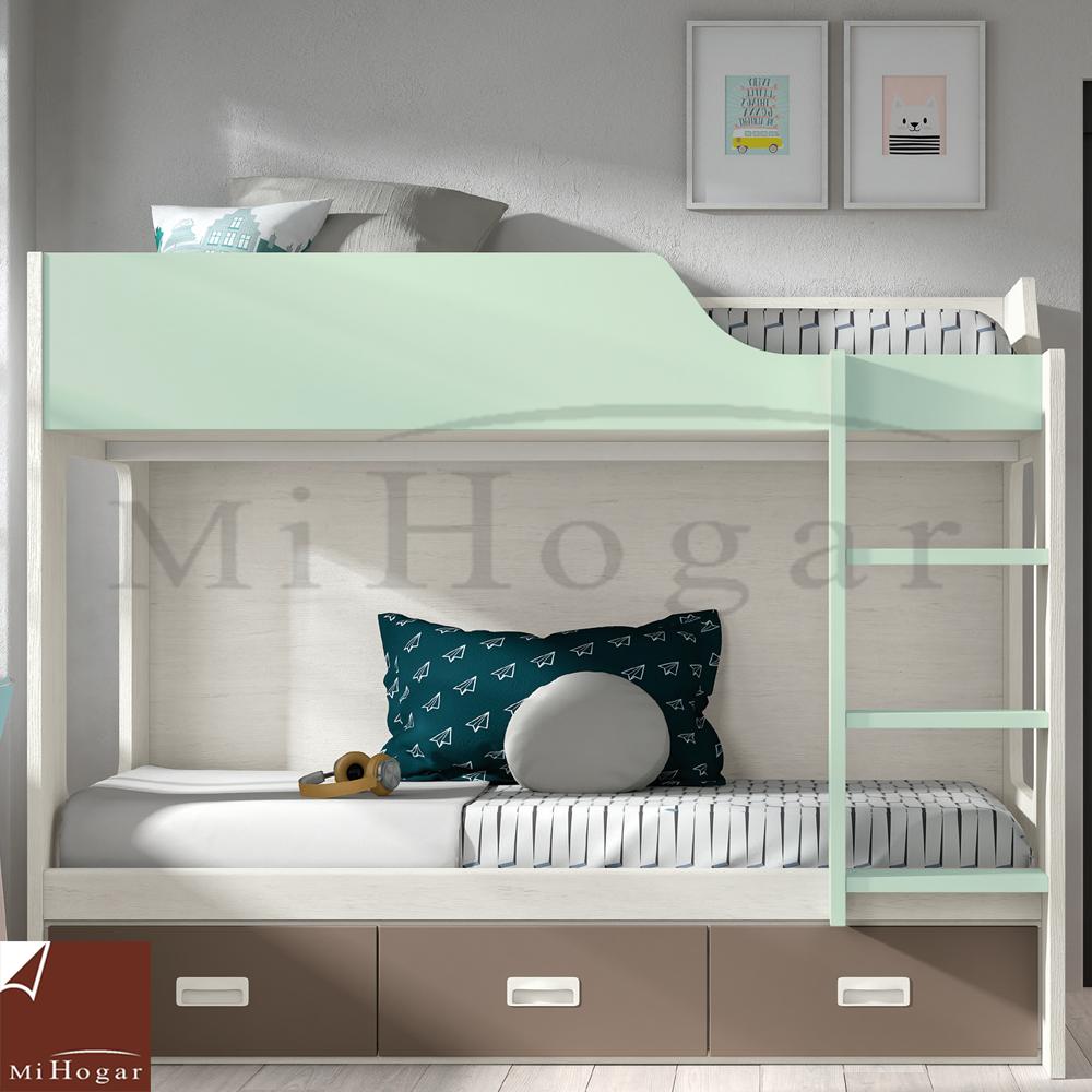 Cama litera low muebles mi hogar for Literas originales para un cuarto juvenil