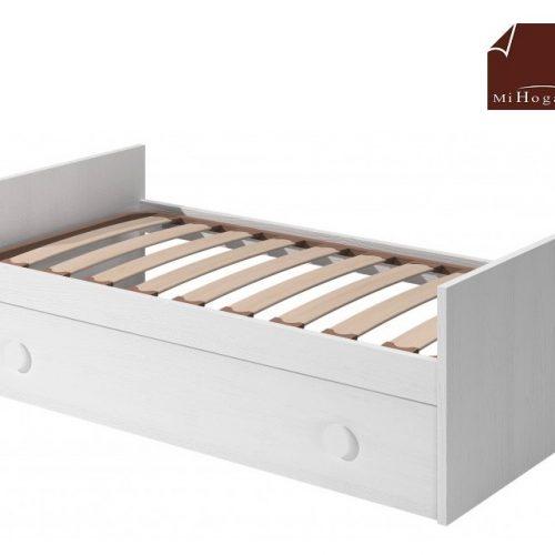 cama nido con somier de arrastre elevable blanco dormitorio infantil mvs