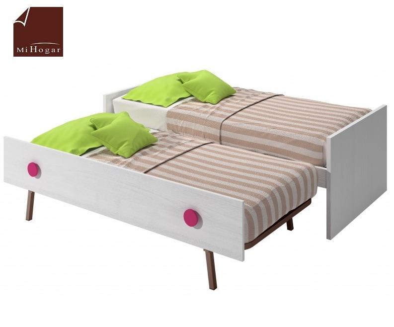 Cama nido infantil mvs muebles mi hogar for Cama nido con cabecero