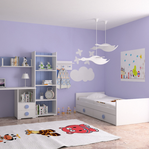 cama nido estanteria mesa perchero dormitorio infantil mvs