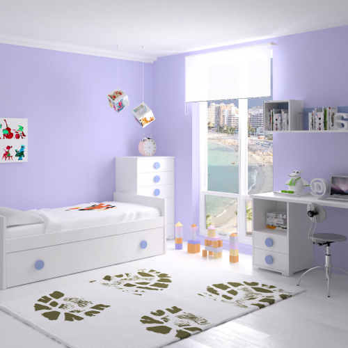 cama nido mesa estudio sinfonier dormitorio infantil mvs