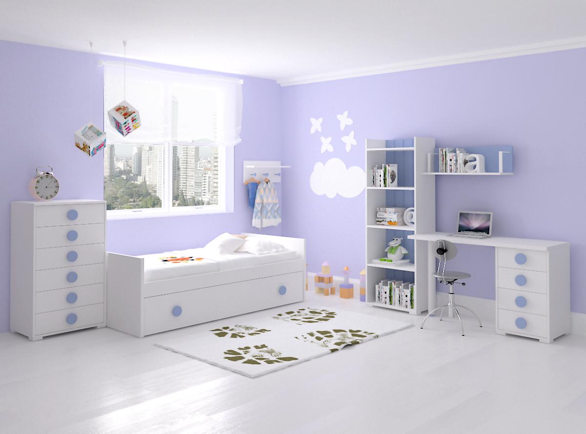 Dormitorio infantil 8 mvs muebles mi hogar - Dormitorio infantil cama nido ...