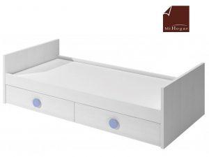 cama nido tabla con cajones de arrastre blanco azul dormitorio infantil mvs
