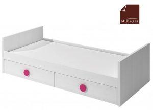 cama nido tabla con cajones de arrastre blanco rosa dormitorios infantil mvs