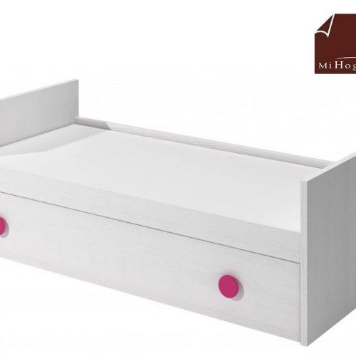 cama nido tabla con somier de arrastre elevable blanco rosa dormitorio infantil mvs