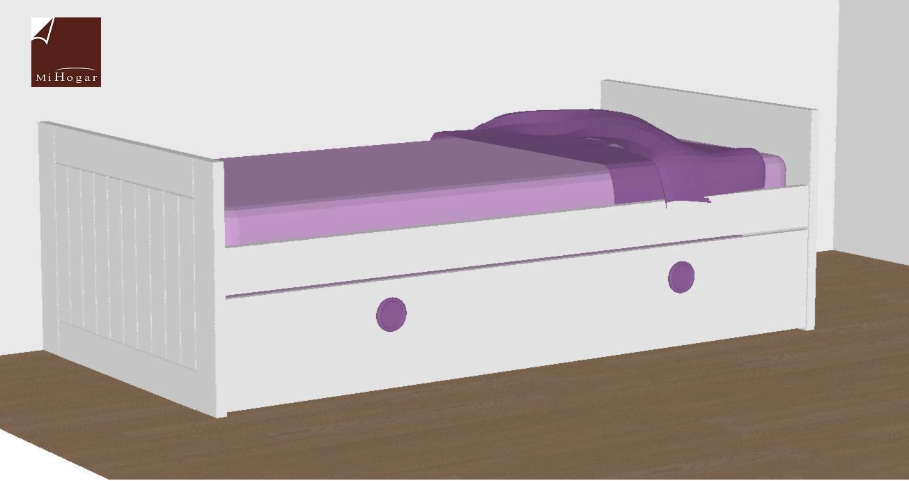 Camas nido lacadas malaca muebles mi hogar - Muebles cama nido ...