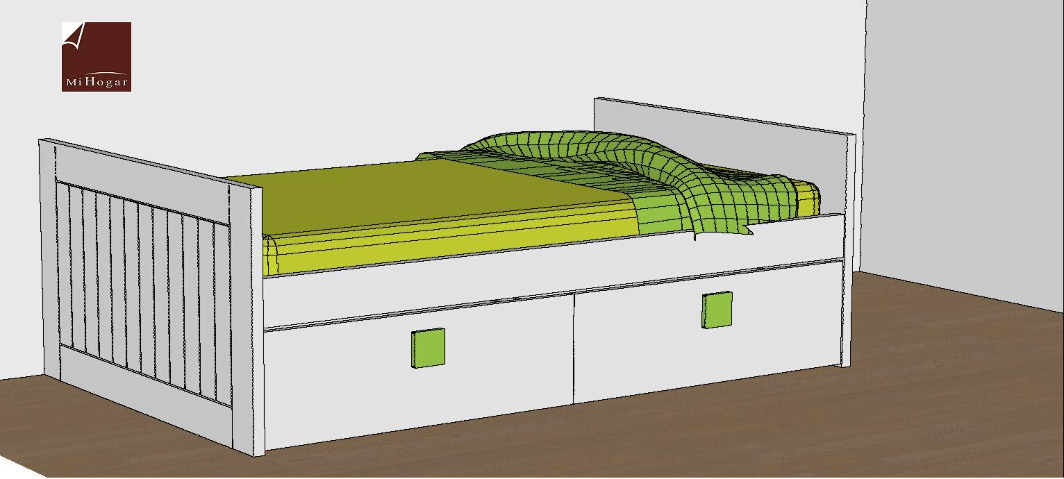 Camas nido lacadas malaca muebles mi hogar for Cama nido dos camas