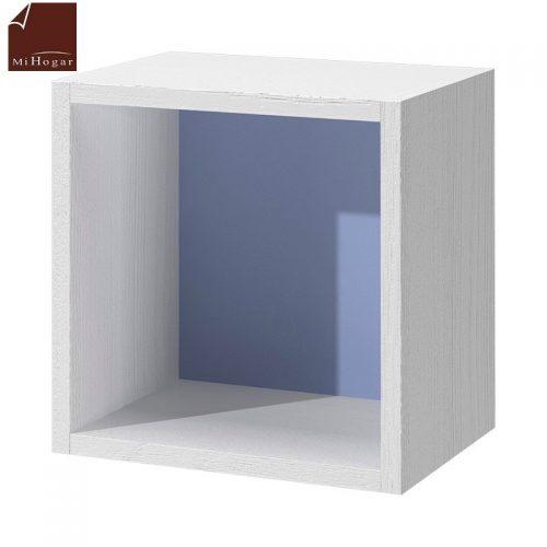 cubo diáfano blanco azul dormitorio infantil mvs