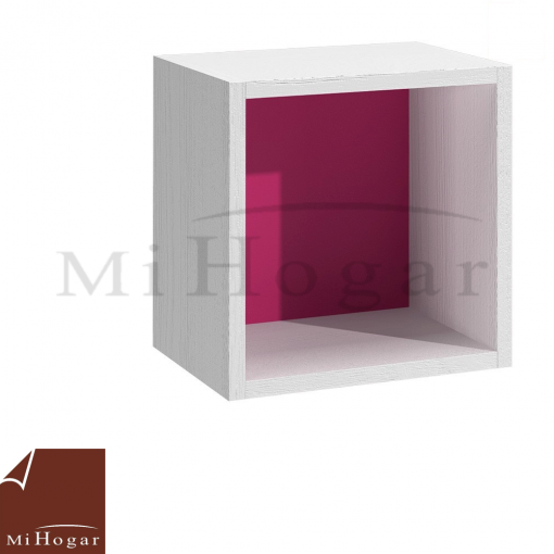 cubo diáfano blanco rosa dormitorio infantil mvs