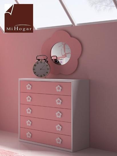 espejo margarita dormitorio infantil malaca