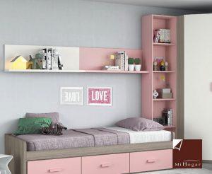 estante de pared dormitorio juvenil low