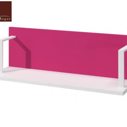 estante pared blanco rosa dormitorio infantil mvs
