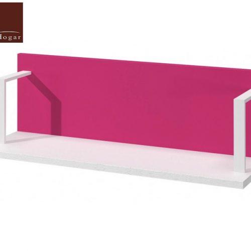 estante pared blanco rosa dormitorio infantil mvs