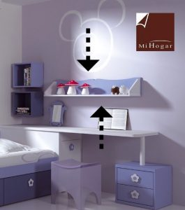 estante pared dormitorio infantil malaca