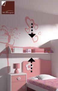 estante pared dormitorios infantiles malaca