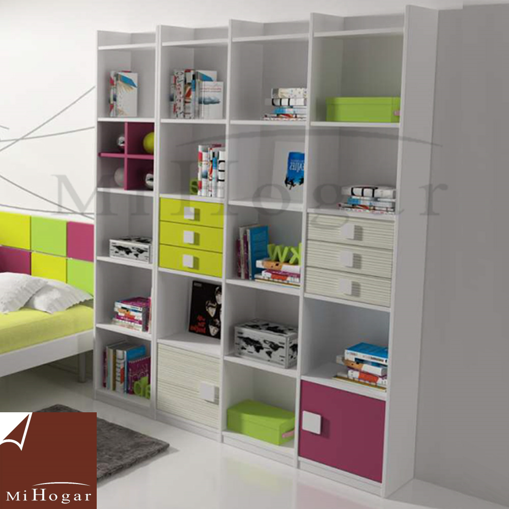 estantería librería dormitorios infantiles malaca