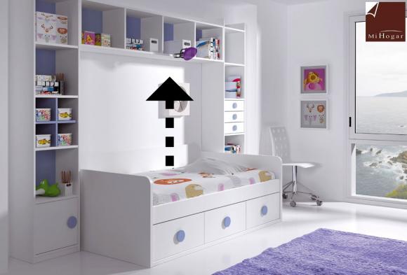 estantería libreria dormitorio infantil malaca