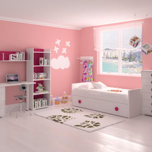 estanteria cama nido sinfonier mesa estudio dormitorios infantiles mvs