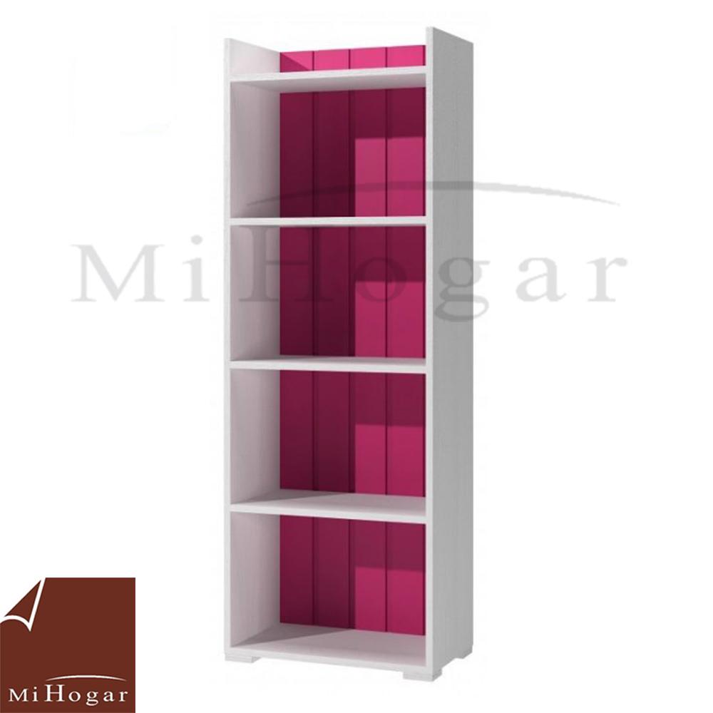 estanteria libreria rosa dormitorio infantil mvs