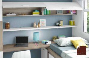estantes para colgar dormitorio juvenil low