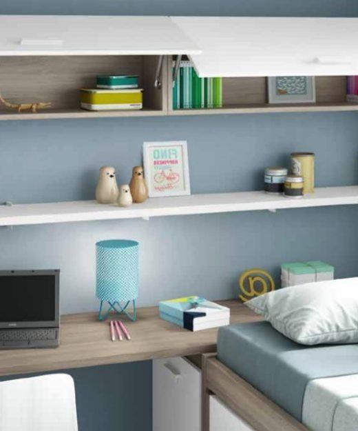 Cama litera low muebles mi hogar - Estantes dormitorio juvenil ...