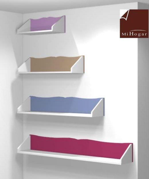 estantes pared dormitorio infantil malaca