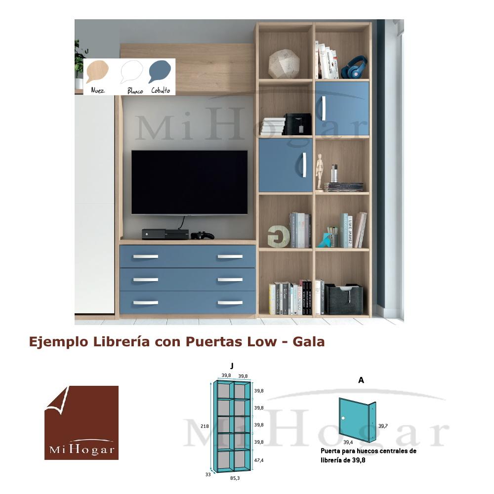 Librer a estanter a juvenil low muebles mi hogar for Muebles refolio dormitorios juveniles