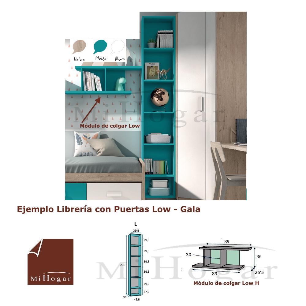 Librer a estanter a juvenil low muebles mi hogar for Programa para disenar dormitorios online