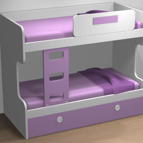 litera 3 camas dormitorio infantil malaca
