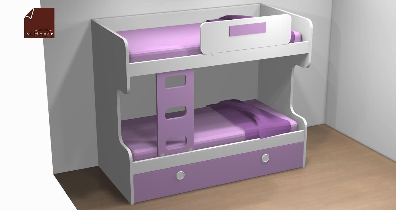Literas nido 3 camas great litera juvenil con tres camas for Cama nido de tres camas