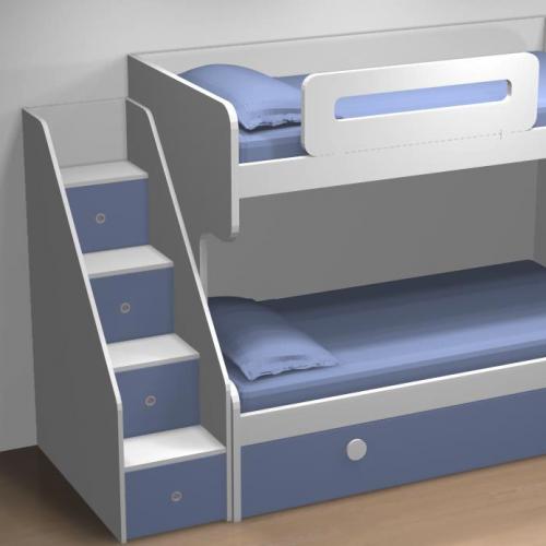 litera cama nido azul dormitorios infantiles malaca