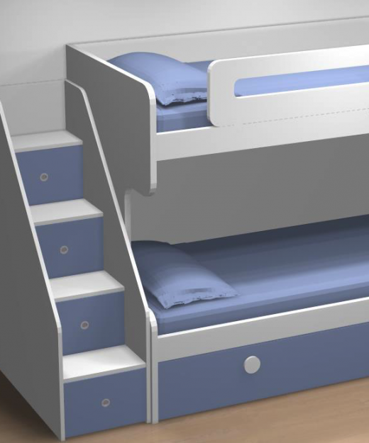 Medidas camas infantiles muebles juveniles dormitorios infantiles y juveniles en madrid camas - Litera con cama nido ...