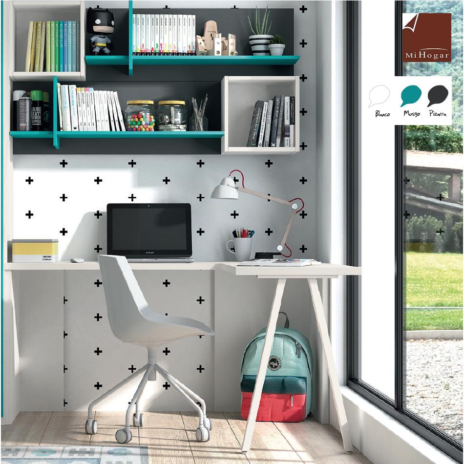 Mesa de estudio esquina low muebles mi hogar - Mesas de estudio abatibles ...