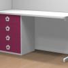 mesa estudio 4 cajones rosa dormitorio infantil malaca