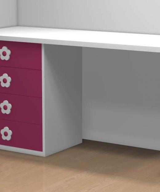Mesa despacho cristal en l amberes muebles mi hogar - Mesas estudio cristal ...