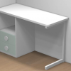 mesa estudio blanco 2 cajones dormitorio infantil malaca