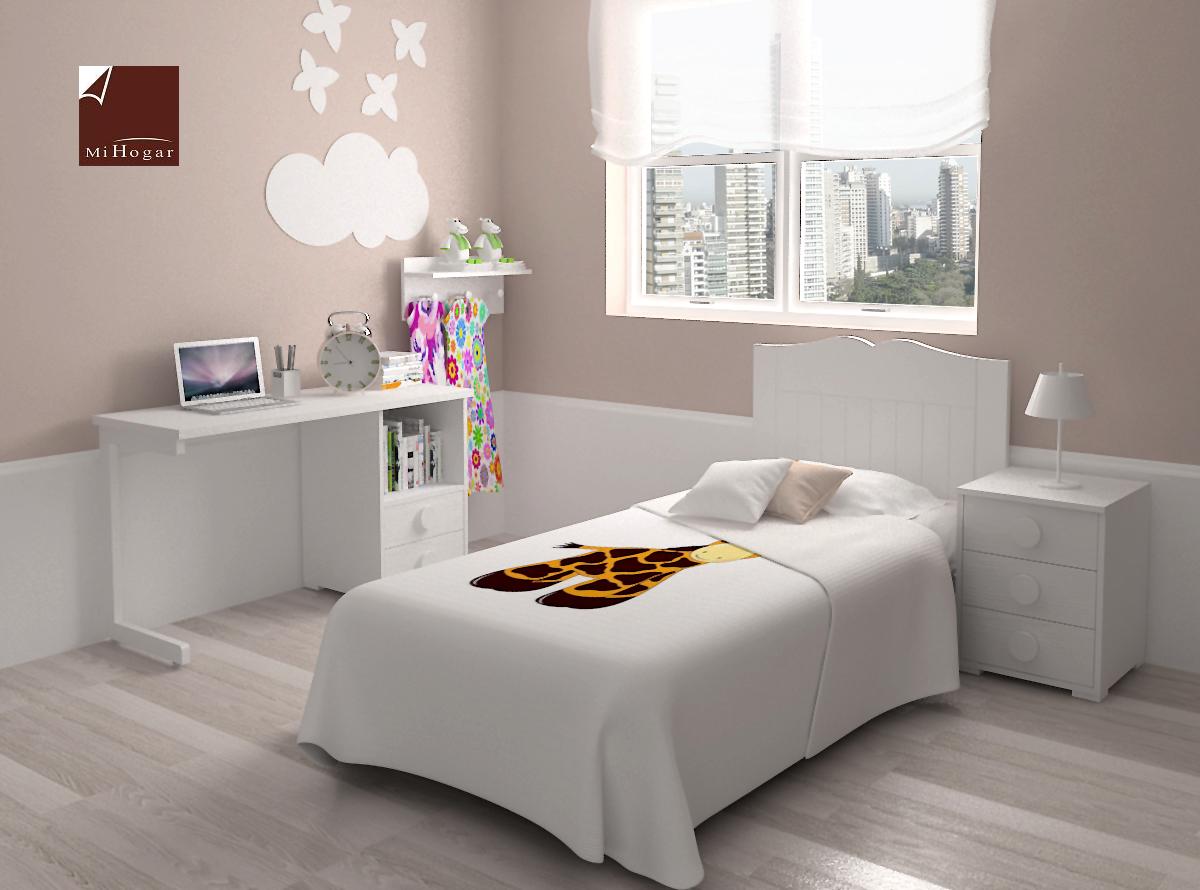 Dormitorio infantil 7 mvs muebles mi hogar - Mesa estudio infantil ...