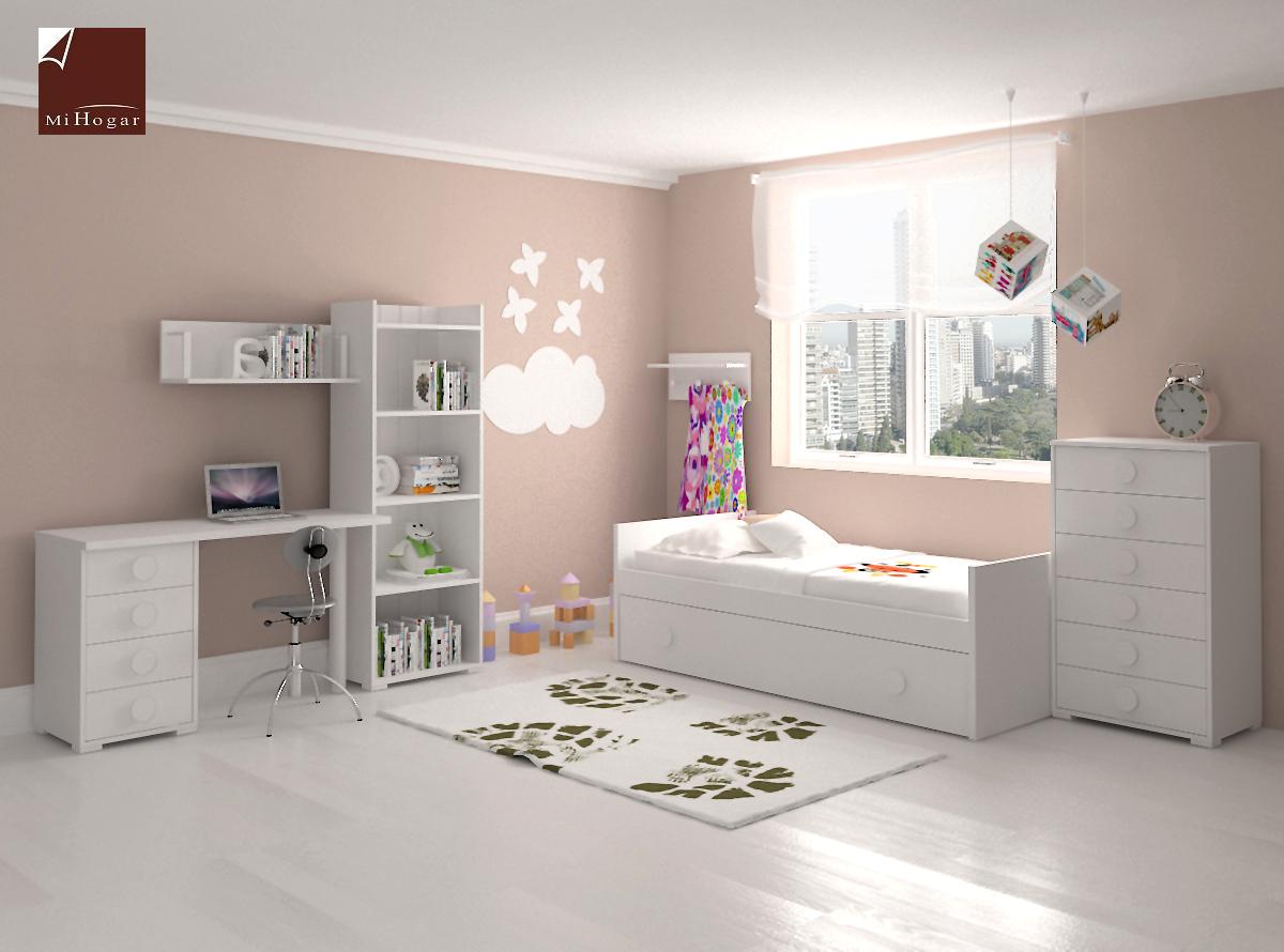Dormitorio infantil 8 mvs muebles mi hogar - Habitacion infantil cama nido ...