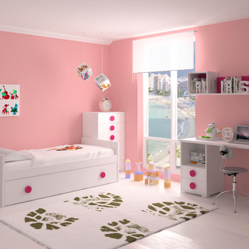 mesa estudio cama nido sinfonier dormitorio infantil mvs