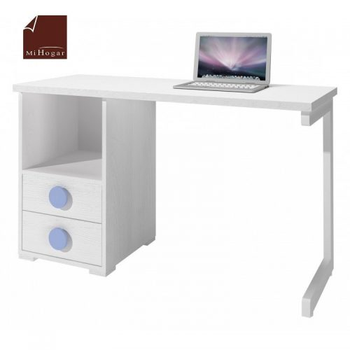 mesa estudio - escritorio blanco azul dormitorio infantil mvs