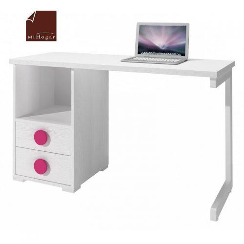 mesa estudio - escritorio blanco rosa dormitorio infanti mvs