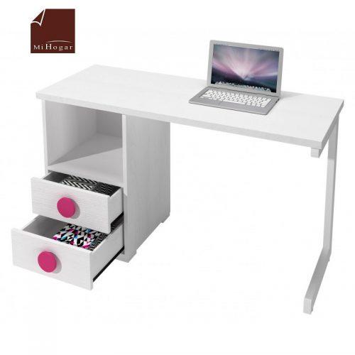 mesa estudio - escritorio blanco rosa dormitorios infantiles mvs