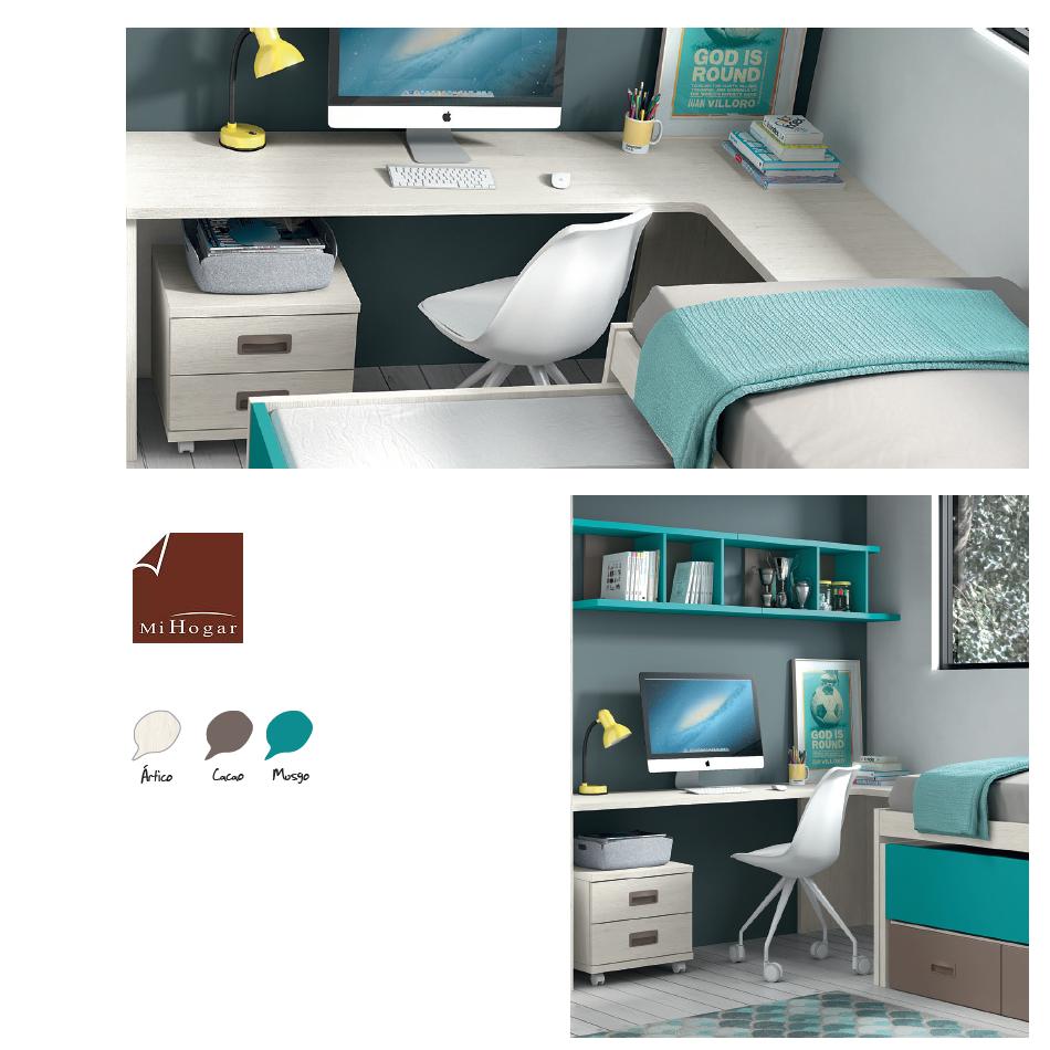 Mesa de estudio esquina low muebles mi hogar - Mesas estudio juveniles ...